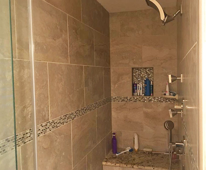 Bath remodel by showcase design apex holly springs fuquay for Bathroom remodeling fayetteville nc